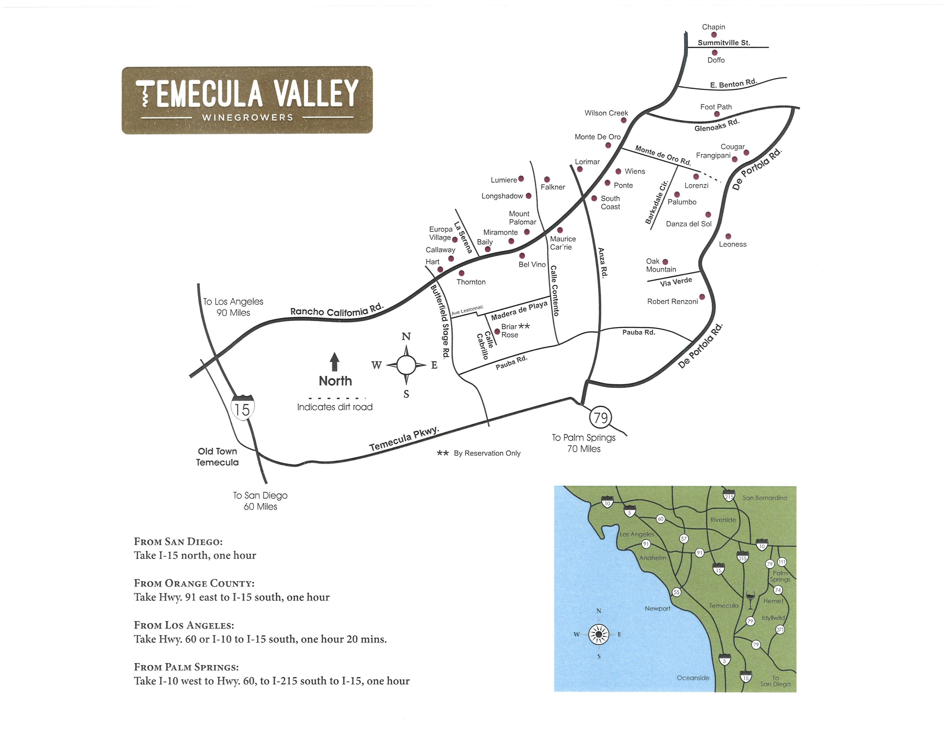 Temecula Valley Winegrowers ociation - TVWA Map on