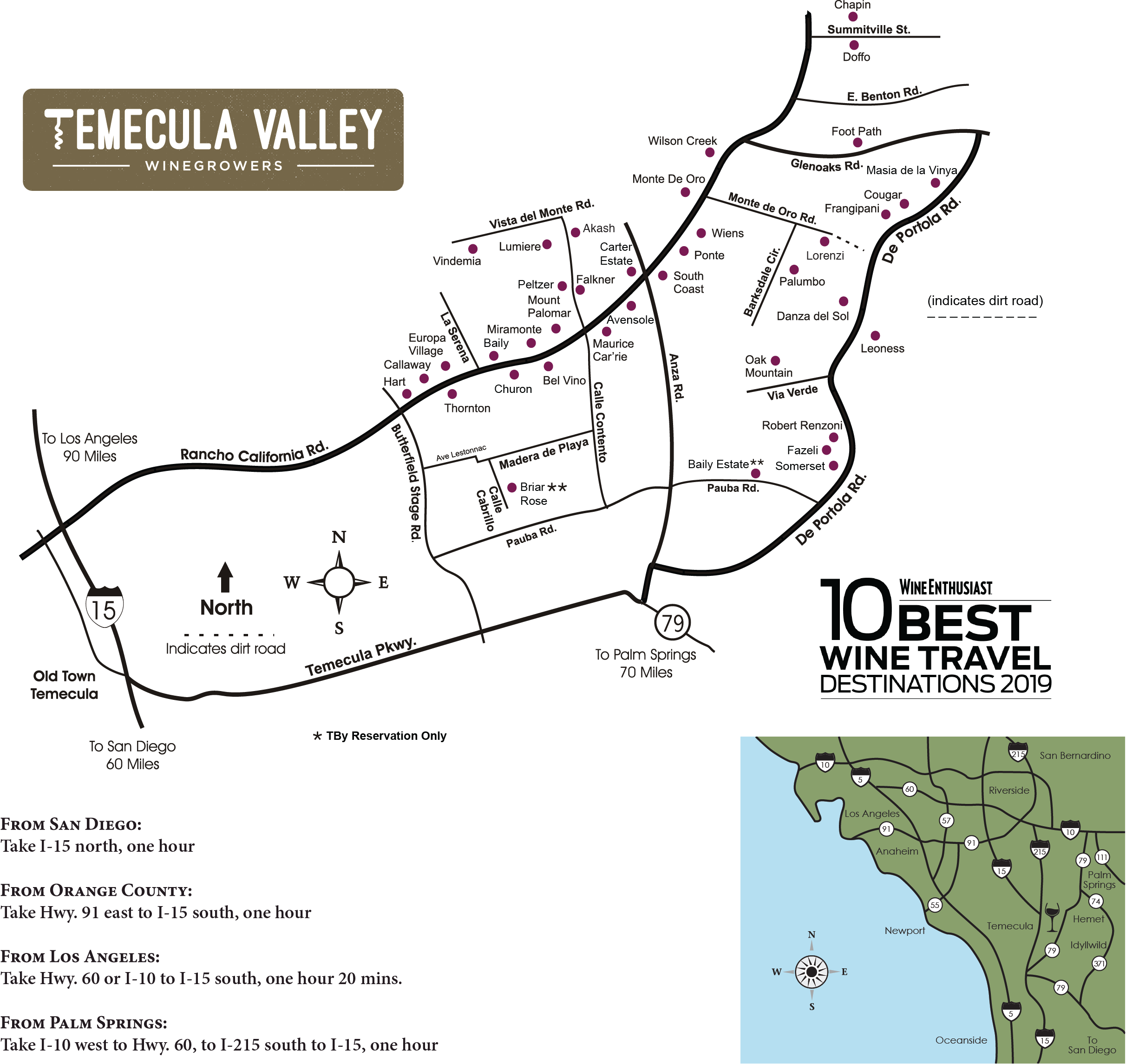Halloween At Temecula Wineries 2020 Temecula Valley Winegrowers Association   Winery Map